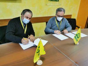 firma accordo Coldiretti Piacenza AEVF