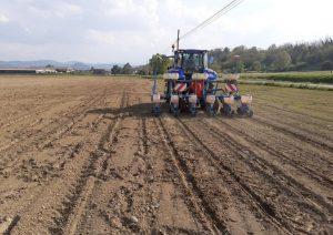 campo e trattore