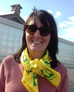 Katia Berni con foulard